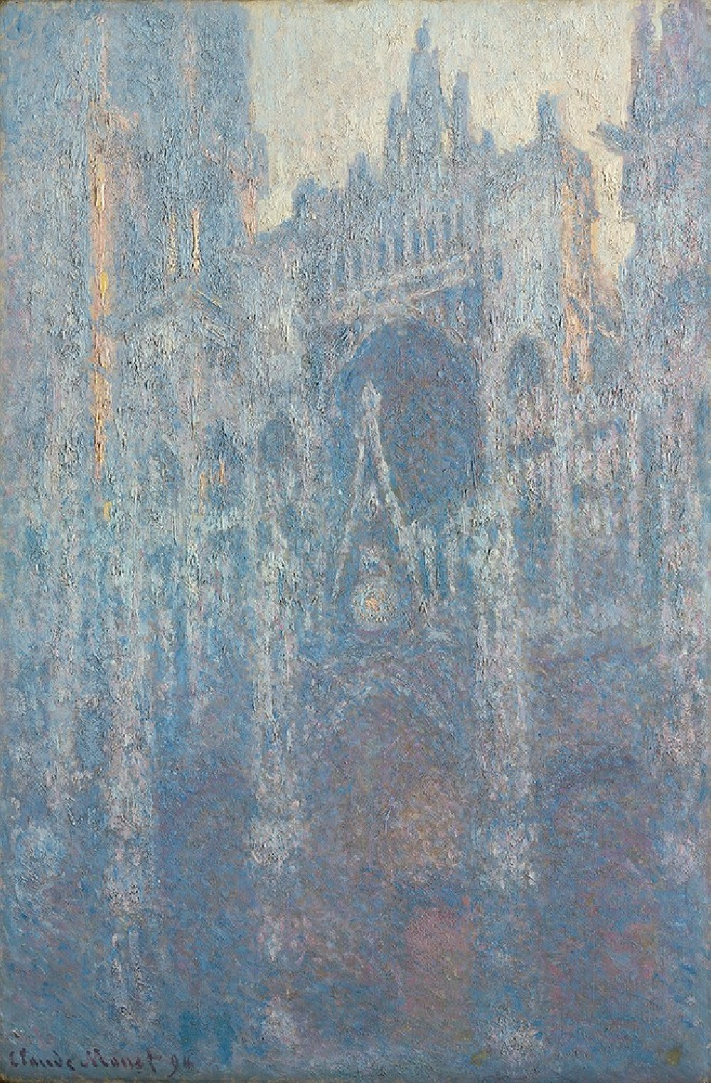Rouen Cathedral, the Portal in Morning Light