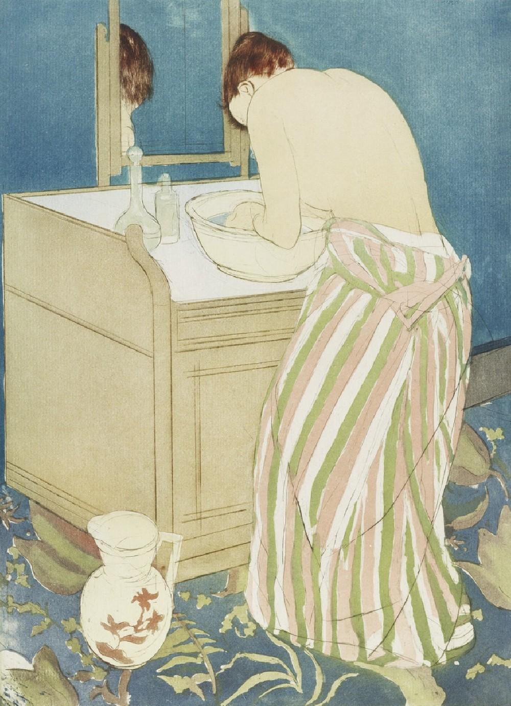 Woman Bathing illustration
