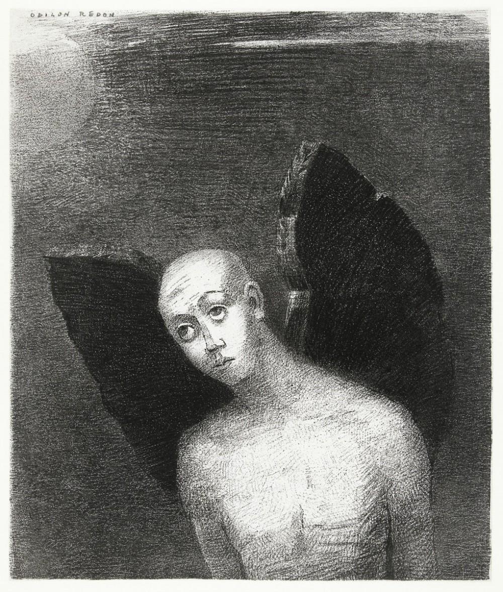 The Fallen Angel Spreads His Black Wings