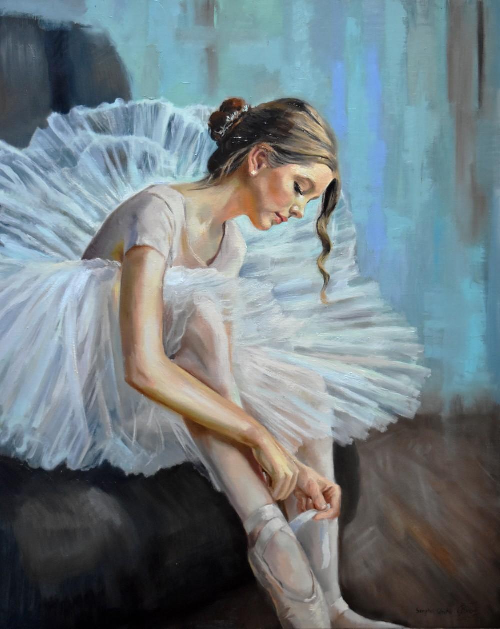 Ballerina preparing to lesson II