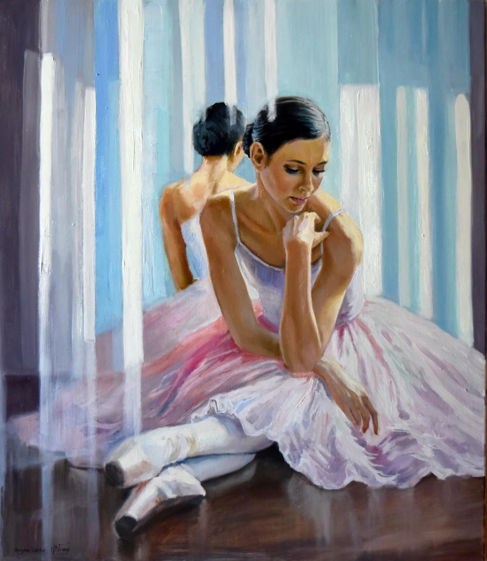 Ballet Dancer in Neon Room